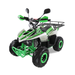 Подростковый квадроцикл бензиновый MOTAX ATV MIKRO 110 cc бело- зеленый  (пульт контроля, электростартер, до 45 км/ч)